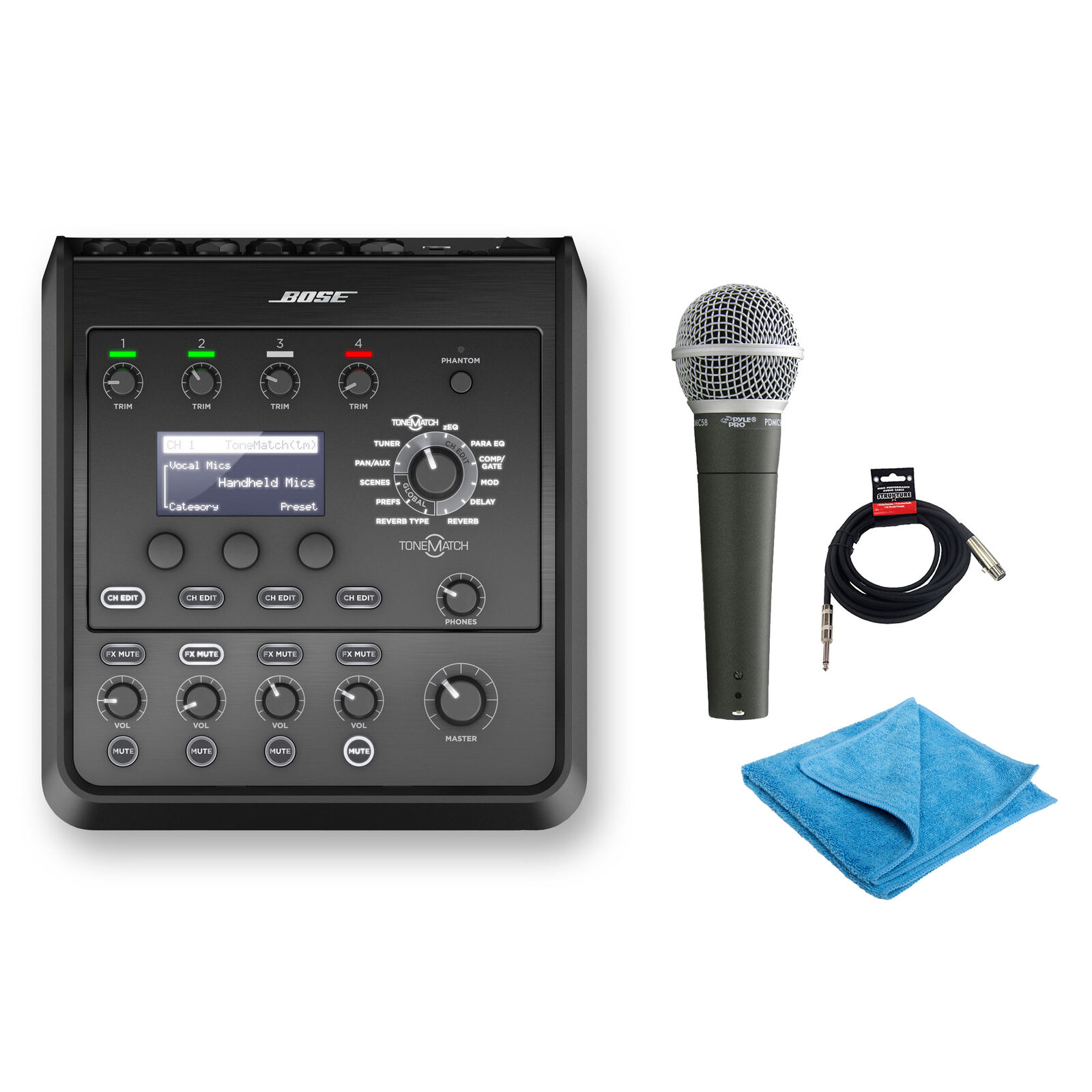 Bose T4S ToneMatch Mixer mit PDMICS58 Mikrofon, Kabel && Reinigungstuch