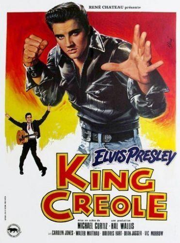 King Creole 1958 Elvis Presley Vintage-Style Musical Drama Movie 12x18 Poster