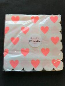 Tovaglioli A Cuore.Dettagli Su 20 Qualita Corallo Stampa Cuore Festa Tovaglioli San Valentino Fidanzamento