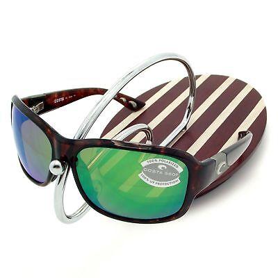 0dc8e93e050a0 NEW Costa Del Mar INLET Tortoise   580 Green Mirror Plastic 580P