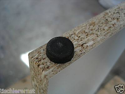 1000 x Nagelgleiter Möbelgleiter Möbelfüße Kunststoff schwarz rund Ø 15 x 5 mm !