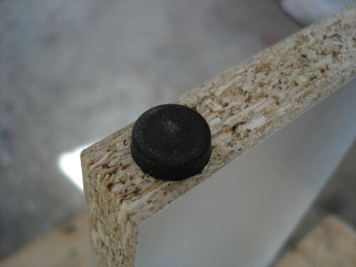 500 x Nagel Gleiter Möbelgleiter Stuhlgleiter Kunststoff schwarz rund Ø 15x5 mm