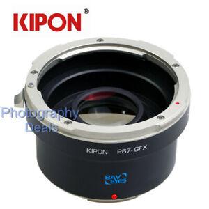Kipon-adaptateur-0-7x-Reducteur-Focal-pour-Pentax-67-lentille-Pour-Fujifilm-GFX-50-S-50R-100