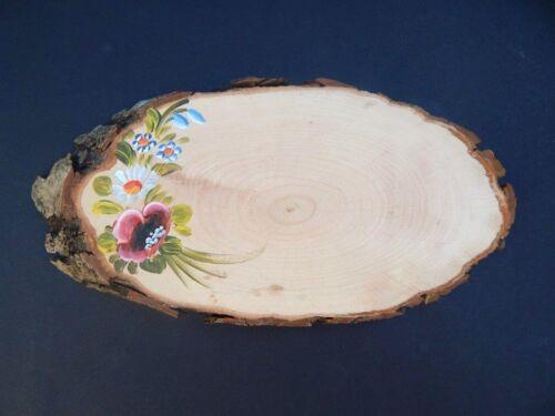 Baumscheibe bemalt mit Laser Wunsch Gravur Türschild Holz