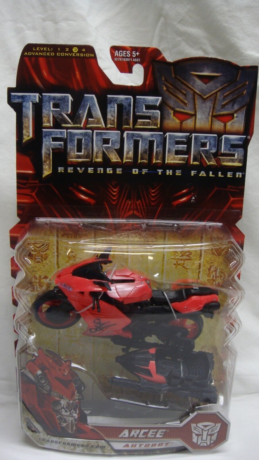 TRANSFORMERS redF REVENGE OF THE FALLEN ARCEE MOTORCYCLE DELUXE NEW SEALED