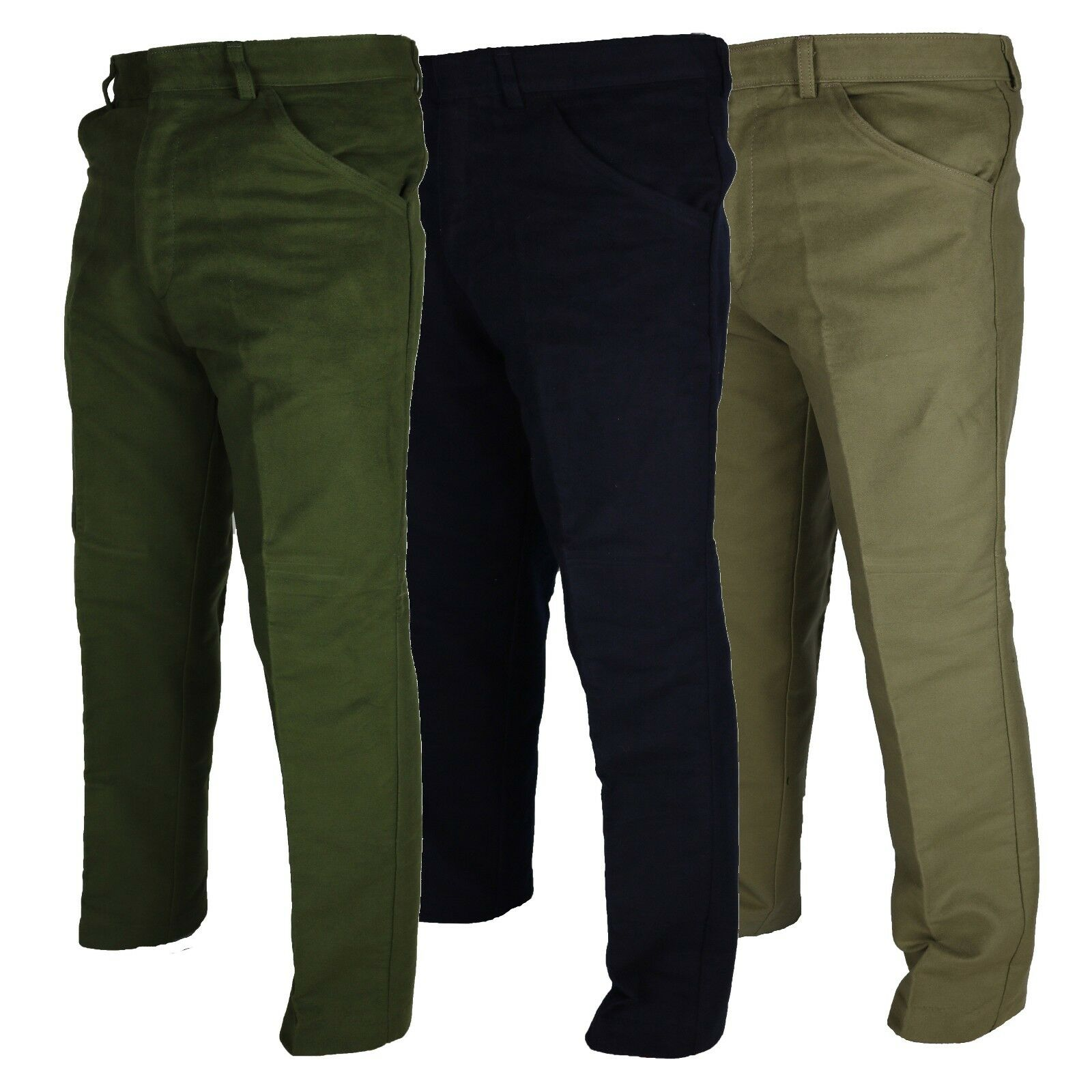 Carabou Mens Moleskin Windproof Outdoor Trousers Sizes 32 – 46 Country Wear