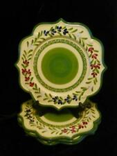 """Baum Bothers STYLE EYES GREEN  Luncheon Plate s 9/"""" x 8 1//2/"""" HTF"""