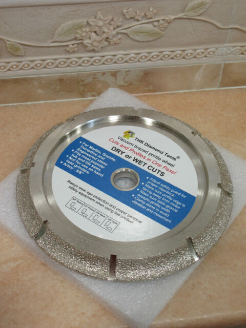 "10/"" inch Diamond vacuum brazed 1//2/"" RADIUS half bullnose profile wheel tile saw"