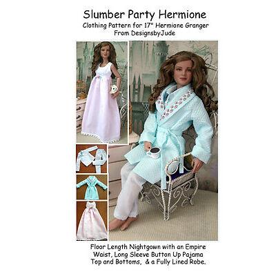 HG104 Slumber Party Pattern for Hermione Granger Tonner