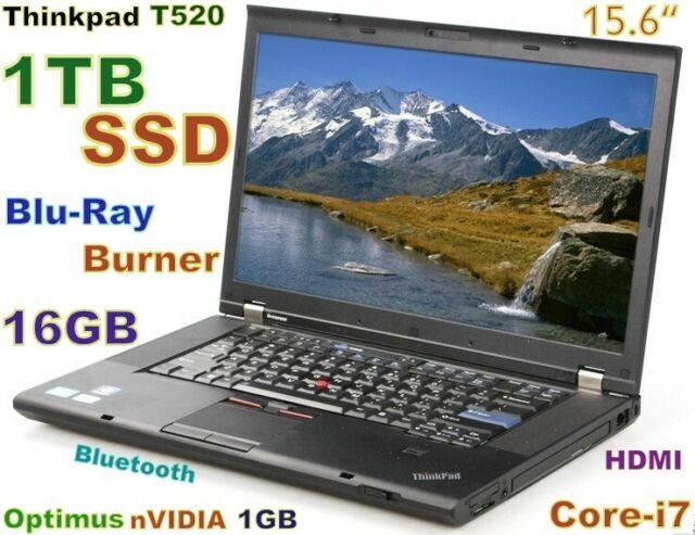 # 3D-Design Thinkpad T520 Core-i7 Blu-Ray Burner 1TB SSD 16GB 15.6