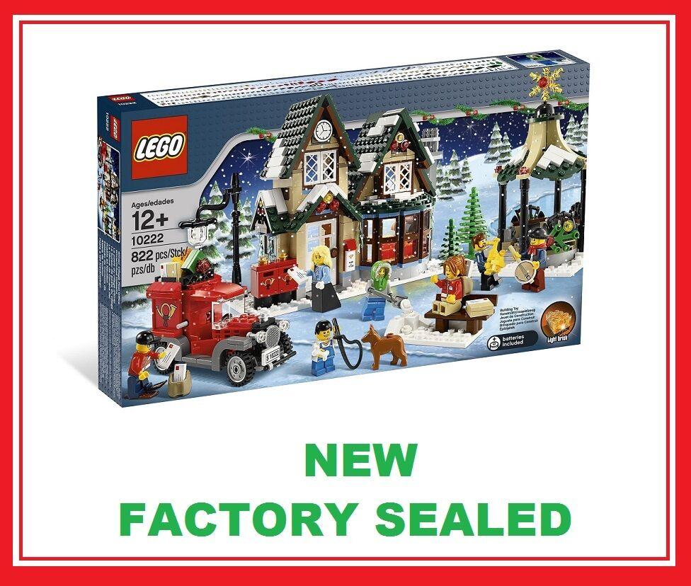 Lego Creator Christmas Winter Village City Post Office set 10222 Nuovo 7 minifig @
