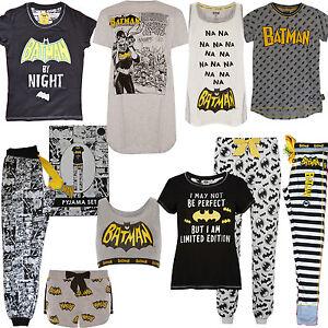 Ladies BATMAN Pyjamas DC COMICS PJ Womens T Shirt Shorts Lounge Pant ... 74079a3ed