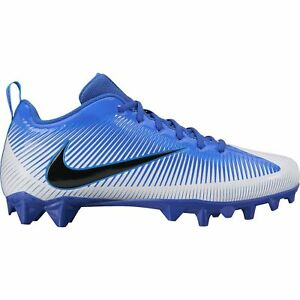 Image is loading Nike-Vapor-Low-Molded-Football-Cleats-Blue-White- 3193cef7cd0b