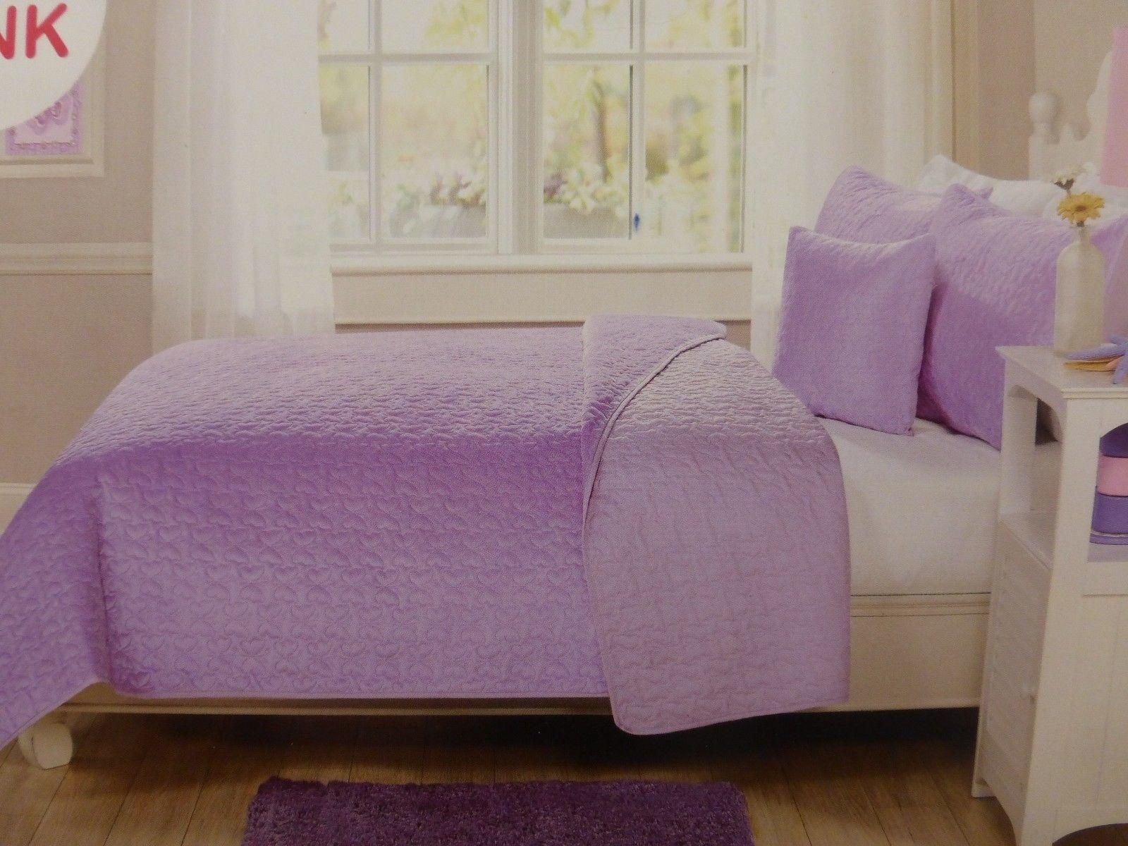 Kids expressions Papillon vison Twin Quilt, SHAM, Décoratif Oreiller-Violet