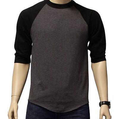 New 3/4 Sleeve Raglan Baseball Mens Plain Tee Jersey Team Sports T-Shirt S-3XL