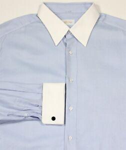 Brioni-Ces-Dernieres-Bleu-Glace-Serge-W-Blanc-Francais-Poignet-Robe-Coton-Polo