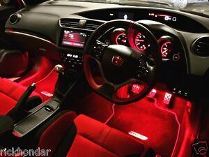 Mugen Honda Civic Type R Fn2 Ep3 Integra Dc5 Crv Crz Footwell Led Lighting Kits Ebay