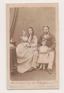 Vintage-CDV-King-Edward-VII-amp-Queen-Alexandra-of-England-amp-Family-Russell-Photo