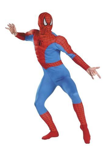Mens Kids Boys Marvel Orignal Spiderman Muscle Costume Adult Childrens