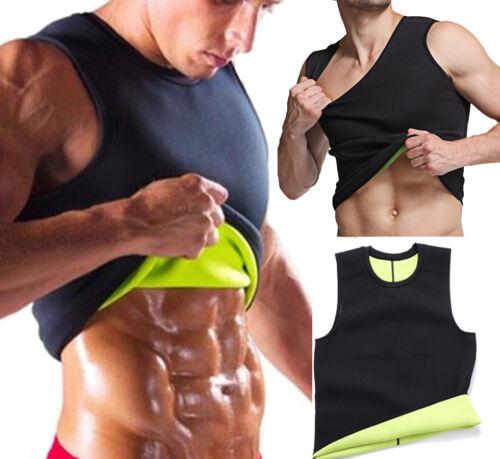 Men/'s Neoprene Sauna Vest Sweat Shirt Redu Fat Body Shaper for GYM Training Tank