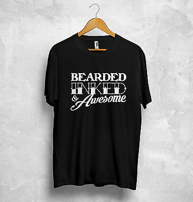 Bearded Inked Awesome T Shirt Beard Tattoo Barber Dope Homies Artist Yolo Durchsichtig In Sicht