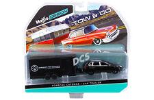 MAISTO PORSCHE CAYENNE BLACK & CAR TRAILER TOW & GO 1/64 DIECAST CAR 15368-L
