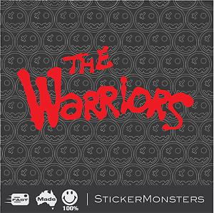 THE WARRIORS Cult Movie Sticker Decal 200mm wide 1979 Retro Vintage Film