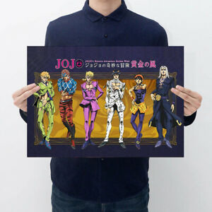 JoJo-039-s-Bizarre-Adventure-Golden-Wind-Paper-Poster-Japanese-Anime-Wall-Decor-Nice