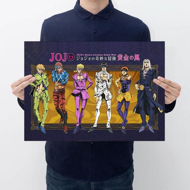 JoJo's Bizarre Adventure Golden Wind Paper Poster Japanese Anime Wall Decor Good