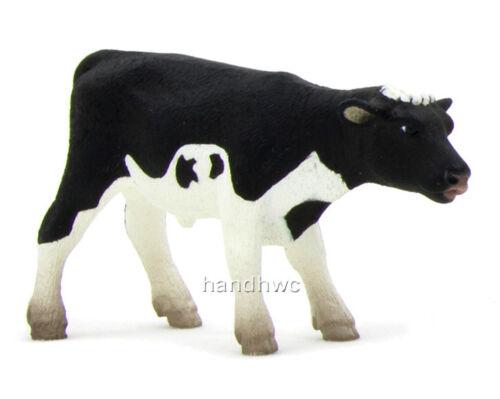 NIP Mojo Fun 387061 Holstein Calf Standing Baby Cow Animal Toy Replica
