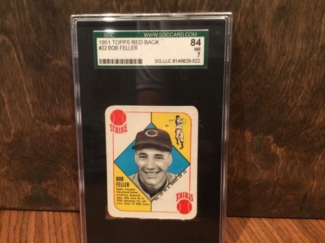 1951 Topps Bob Feller 22 Baseball Card