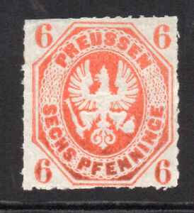 Prussia (Germany) 6 Pfennig Stamp c1861-65 Unused (8055)