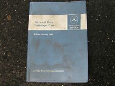 Mercedes-Benz Technical Data Edition January 1980