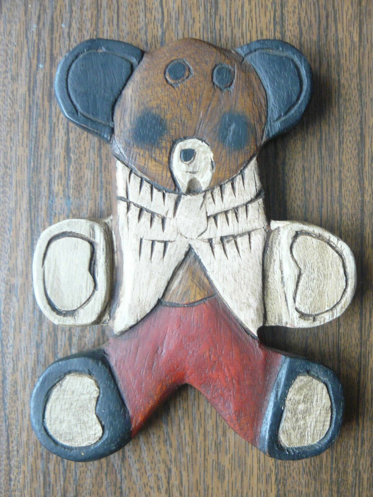 Estonian Vintage Private Handmade Wooden Teddy Bear Toy 1920s 1920s 1920s c238d3