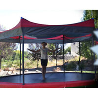 14' Trampoline Shade Cover Protection Canopy Outdoor Umbrella Kids Awning Tent