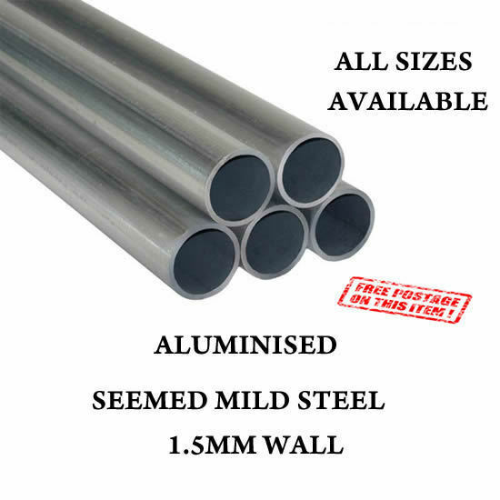 """54MM STAINLESS 304 TUBE PIPE ALL SIZES LENGTHS EXHAUST REPAIR 2.12/"""" 1.5MM WALL"""