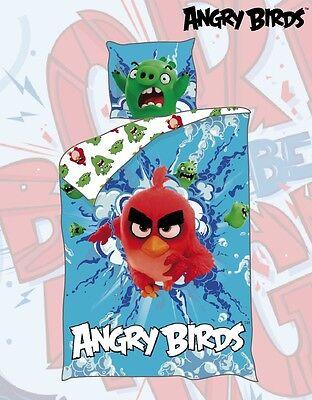 Bettwaren, -wäsche & Matratzen Bettwäschegarnituren Sonderabschnitt Original Angry Birds Red Bird Wende-bettwäsche 140x200 Cm/70x50 Cm Neu Blau