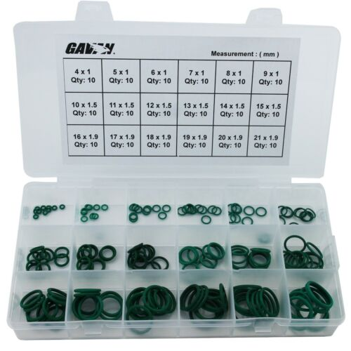 180Pcs 1mm 1.5mm 1.9mm Section OD from 4mm to 21mm VITON ORing gaskets set