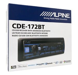 Alpine-CDE-172BT-CD-Player-Car-Stereo-Bluetooth-USB-Aux-Replaces-CDE-143BT