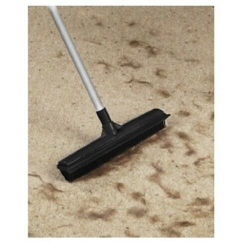 Rubber Broom Brush With Extending Handle Ideal for Pet Hair Laminated Floors
