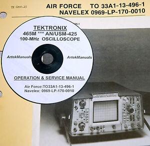 tek tektronix 465m an usm 425 oscilloscope operating service rh ebay com Tektronix Calibration Services Tektronix Website