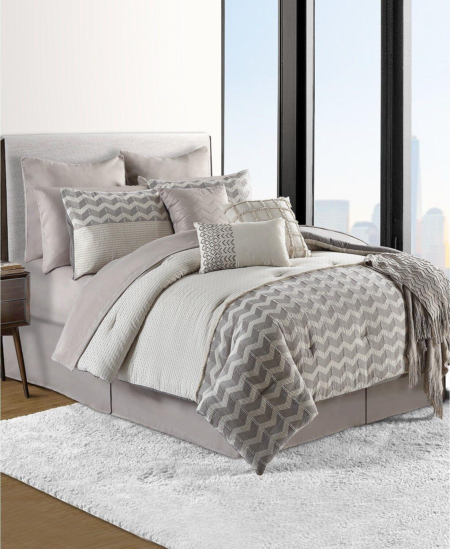 Sunham Fin Cotton 12 Piece QUEEN Comforter Set Bedding Ensemble  360 14 H4052