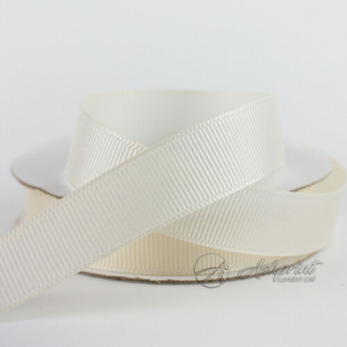 10m Ivory Grosgrain Ribbon 10mm 16mm 25mm 38mm CG