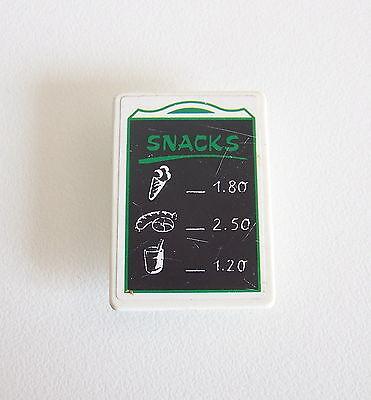 CENTRE EQUESTRE Panneau Affiche Snack Poney Ranch 3775 PLAYMOBIL T2227