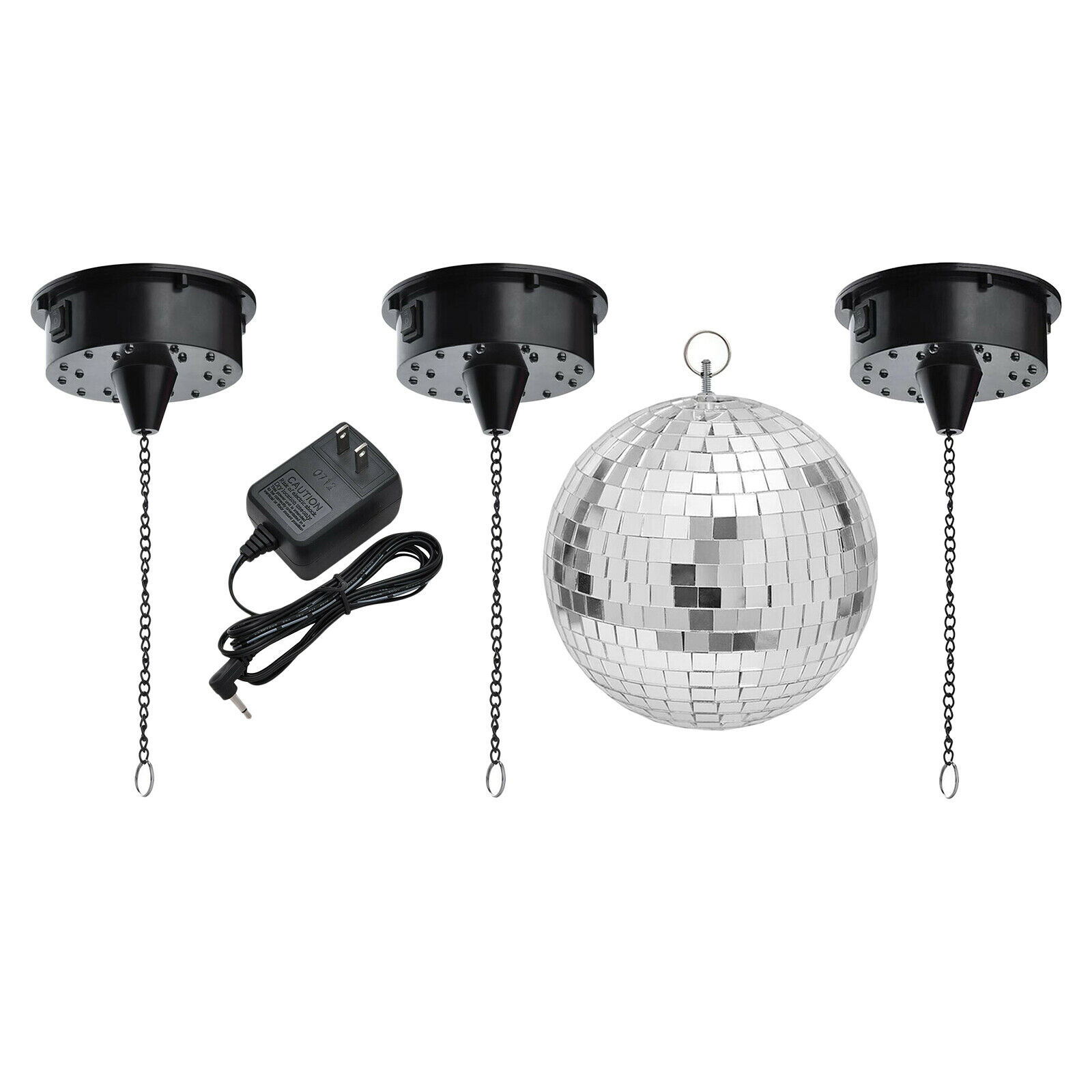 RGBW 18 LED Disco Ball Motor Sound Control for Disco DJ Party Stage Light