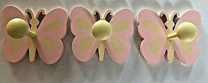 Pottery Barn Kids Pbk Butterfly Wall Peg Hook Towel Bath