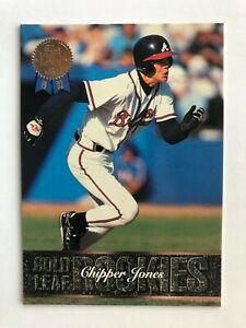 1993-Leaf-CHIPPER-JONES-Atlanta-Braves-Gold-Rookies-Baseball-Insert-Card-19