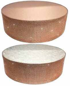 Crystal-Diamante-Cake-Stand-Display-Pedestal-Bling-Rose-Gold