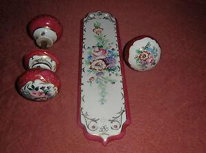 Vintage-Ceramique-Porcelaine-Porte-Plaques-de-cuisson-Tige-et-Porte-Poussoir