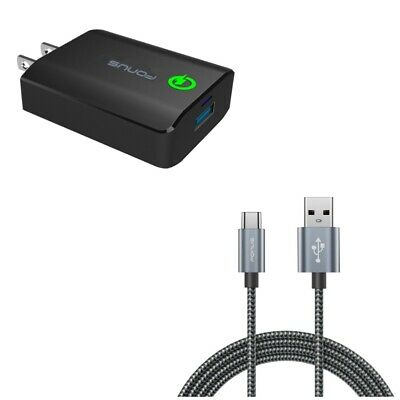 Type C Wall Charger Wall Home Travel Charger USB 3.1 Type C Cable Charger Cable for ZTE Z MAX Pro//ZMAX Pro//Carry Z981